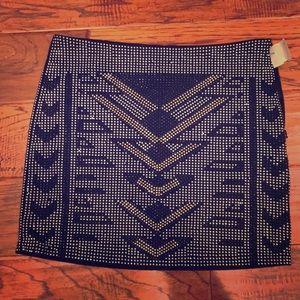 Shmexy Aztec print mini skirt